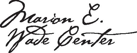 Marion Wade Center Podcast Logo