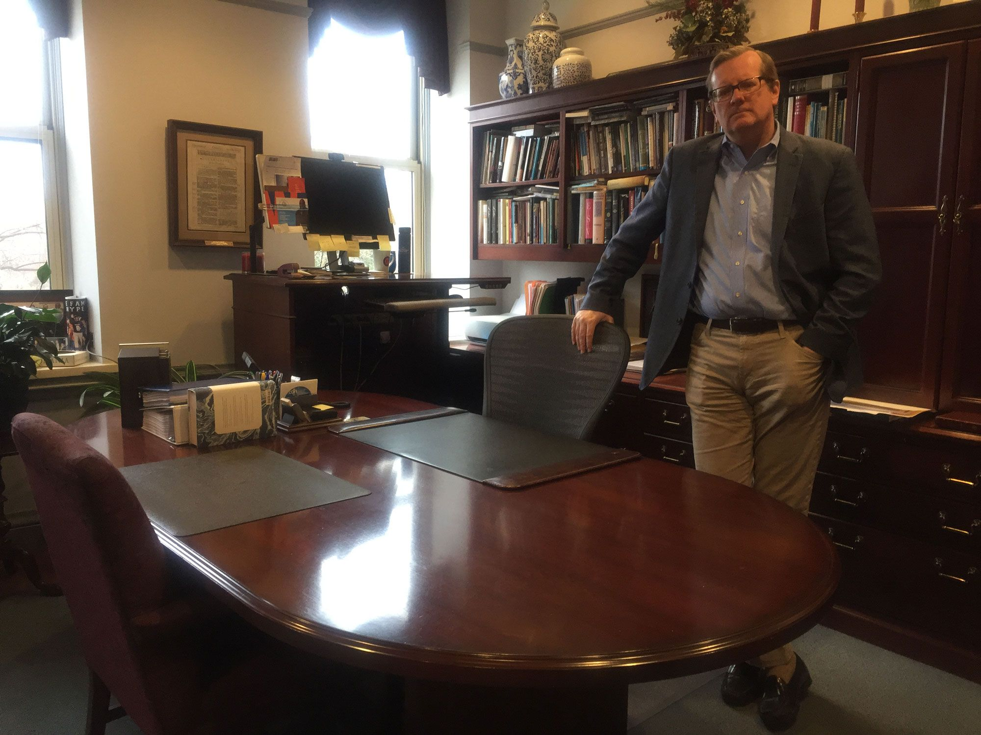 President Philip Ryken captures his last moments in the office before he heads home for shelter-in-place.