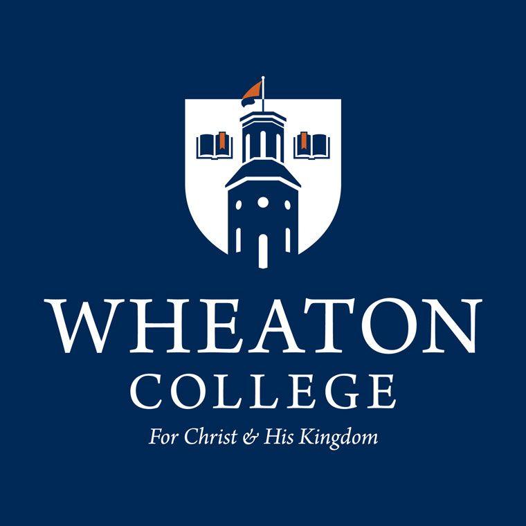 Wheaton College Logo on blue background