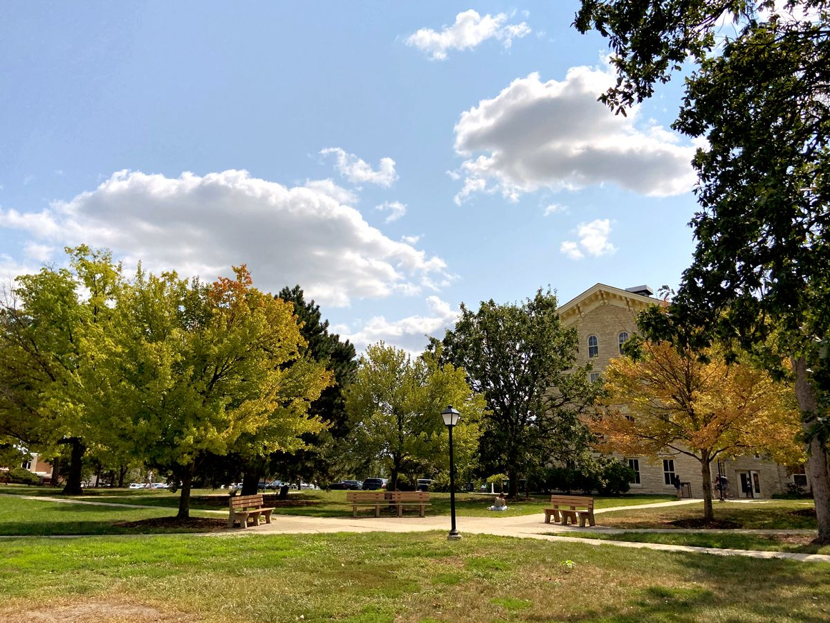 On September 11, 2002, Wheaton College dedicated a commemorative plaque on a bench on campus in honor of the lives of the alumni lost on 9/11. The bench is one of three benches under three trees, each one symbolizing one of the three Wheaton alumni who died on that day.