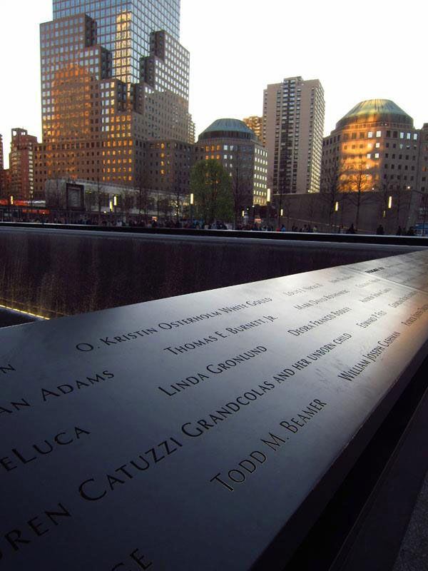 """In 2012, alumna Lauren Canita sent us this photo to share with the Wheaton Community. """"Megumi Young '09, May Chang '09 and I met up in New York City for a reunion,"""" wrote Lauren. """"We visited the 9/11 Memorial and found fellow Wheaton alumnus Todd Beamer's name on the wall of south pool. What a moving experience!"""""""