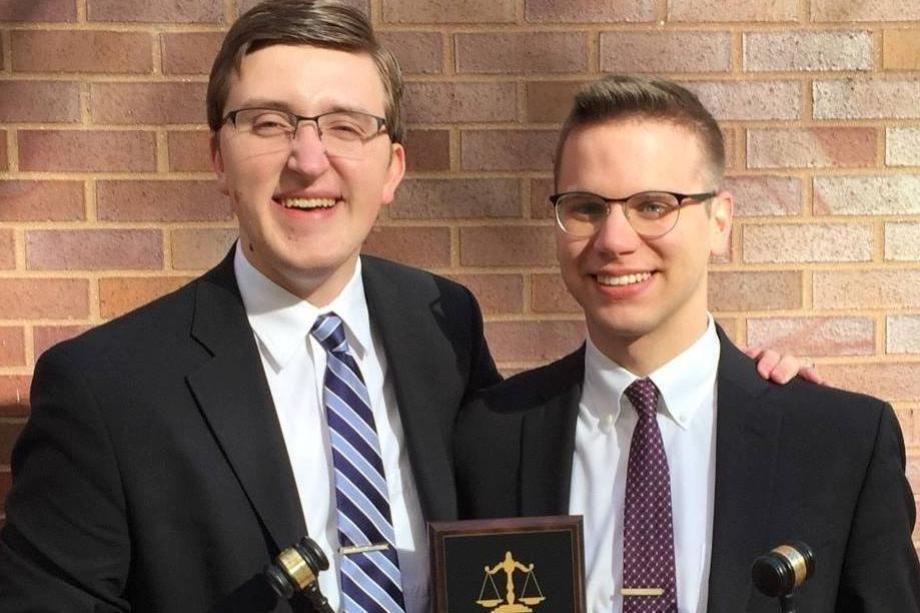 Joel Erickson and Tyler Long Moot Court Winners