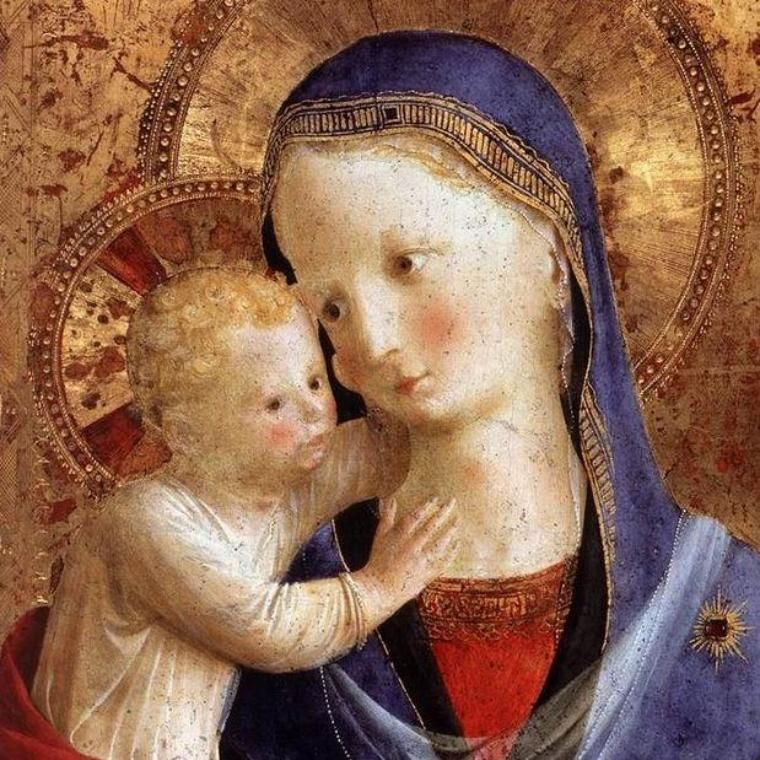 Virgin Mary and Jesus Icon large painting by Fra Angelico