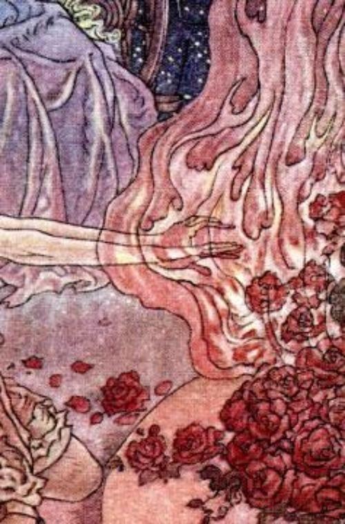 Roses Princess and Curdie Charles Folkard Graphic