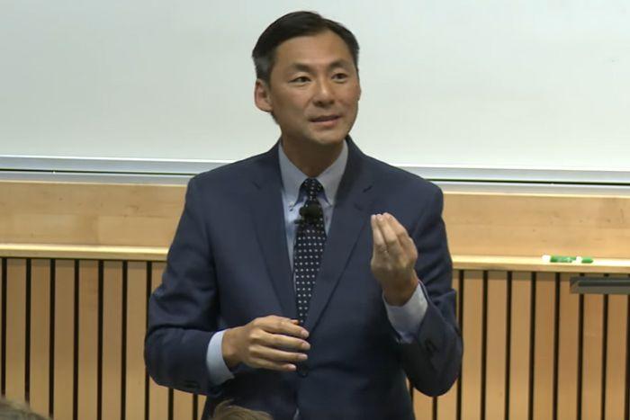 Morse Tan speaking